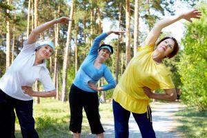 упражнения на свежем воздухе