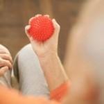 массаж мячиком