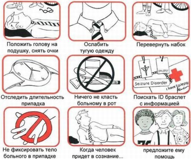 неотложная помощь при приступе эпилепсии