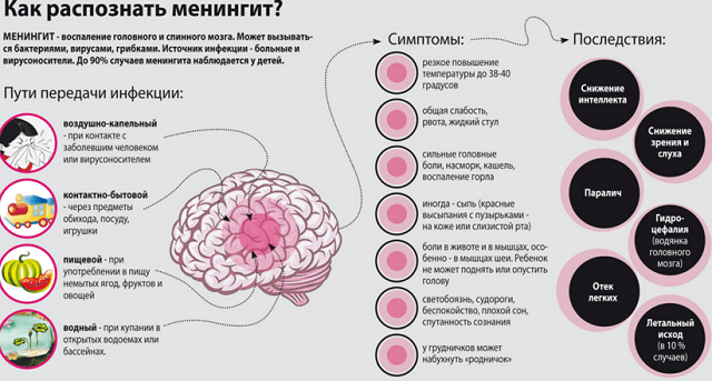 признаки и причины менингита