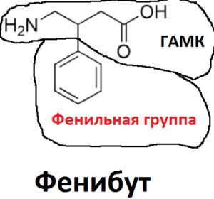 фенибут формула
