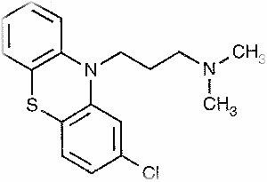 Формула хлорпромазина