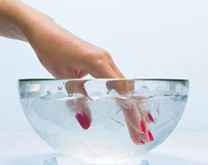 контрастные ванночки для рук