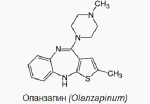 Структурная формула Оланзапин