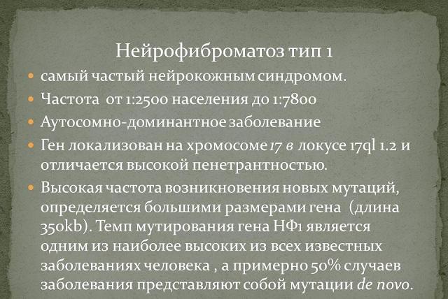 Нейрофиброматоз Реклингхаузена