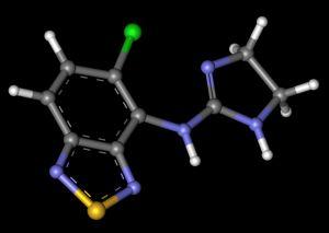 Структурная формула тизанидин