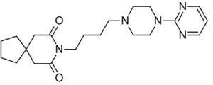 Формула буспирон гидрохлорид