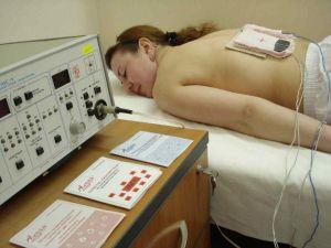 Электроды на спине