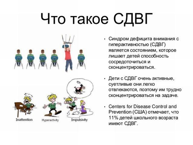 Синдром дефицита внимания и гиперактивности (СДВГ): что ето такое, симптоми, лечение