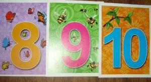 карточки с числами