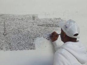 рисование на стене