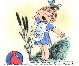 девочка Таня плачет