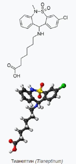 Химическая формула Тианептина