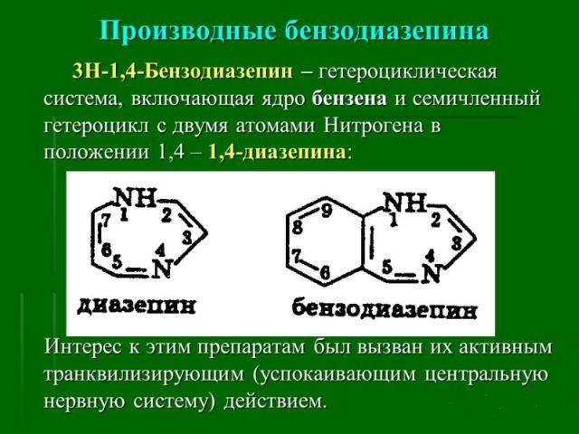 производные бензодиазепина