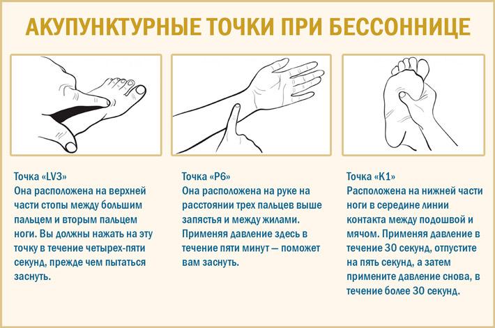 Точки для массажа при бессоннице